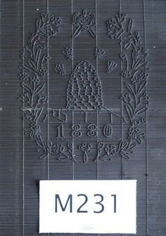 Simon Barcham Green papermaker watermark Tumba and beehive M231 1880