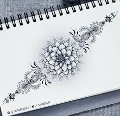 @saphiriart on instagram - dahlia flower tattoo design mandala