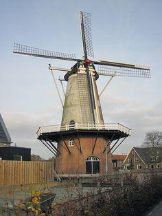 Flour mill Molen Van Oude Hengel, Ootmarsum, the Netherlands