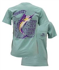 Southern Couture High Priority Deep Sea Fishing Fish Country Pocket Un | SimplyCuteTees