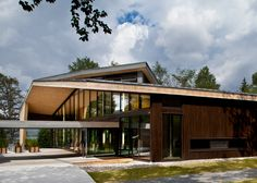 """Visitor centre """"harmoniously inserted"""" into a Canadian forest."""