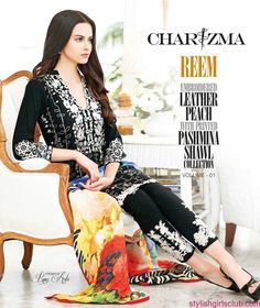 Charizma Reem Digital Pashmina Shawl Winter Designs 2016-17