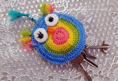Key cover, Key Case Owl, Key Holders, crochet keyring, Crochet Keychain, cover…