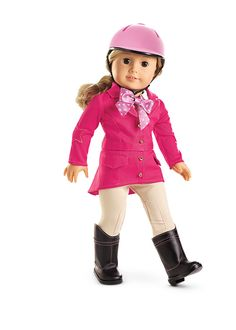 Pretty Pink Riding Outfit & Helmet by American Girl