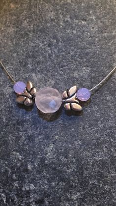 pink quartz choker necklace by PrettyStoneCreations on Etsy