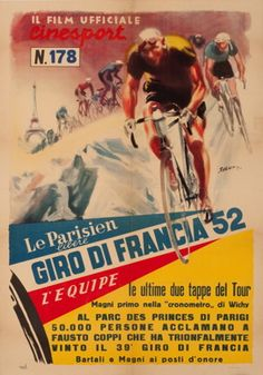 1952 Tour de France Movie Poster