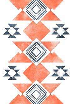 Orange Wall Art, Orange Walls, Southwest Decor, Southwestern Decorating, Nursery Wall Art, Nursery Decor, Wall Decor, Indigo Prints, Airstream Interior