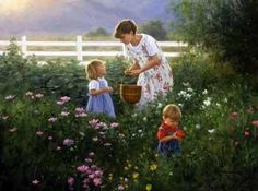 The Magic Hour by Robert Duncan. He really captures the children in all of his prints.
