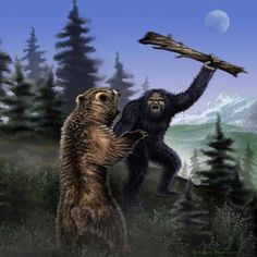 Bigfoot And The Battle For Survival - Bigfoot's Wilderness Bigfoot News, Yeti Bigfoot, Bigfoot Sasquatch, Myths & Monsters, Sea Monsters, Bigfoot Pictures, Legends And Myths, Mothman, Cryptozoology