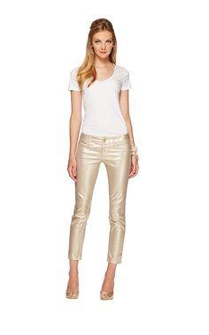 #obsessed Lilly Pulitzer Fall '13- Worth Skinny Mini in Gold Metallic