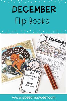 December Literature Flip Books for Speech and Language Therapy: Literature Flip Books are fun, engaging, and motivating! Your speech-language therapy students or regular education classroom students will love these! The December Edition features flip book companions for popular Christmas story books! These activities address story elements, comprehension, sequencing, and more! | Speech is Sweet Speech Language Therapy, Speech Therapy Activities, Language Activities, Speech And Language, Christmas Speech Therapy, Christmas Story Books, Flip Books, Story Elements, Interactive Notebooks