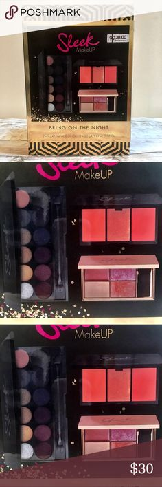 Sleek Makeup - Bring On The Night Gift Set This gift set contains:  • Eyeshadow Palette Vintage Romance - 9g. - 0.31 oz • Highlighting Palette Solstice - 9g. - 0.32 oz • Blush by 3 Take a Cheeky Peek - 20g. - 0.68 oz  *Brand New - Never Opened  **Comes from a smoke/pet free home   Thank you for your interest, please don't forget to check out other items in my closet!! 😀🙏🏼 Sleek Makeup Makeup Eyeshadow
