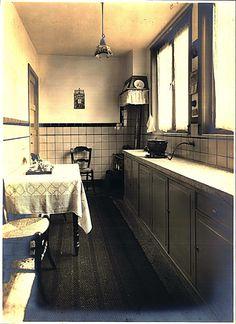 ca 1935, keuken, Philips woning Woensel West Eindhoven.