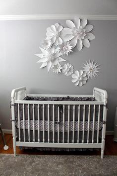Paper Flower Handmade Wall Collage for Nursery, Nursery Art, Wedding, Photo Backdrop, Photo Booth Backdrop Large Paper Flowers Custom
