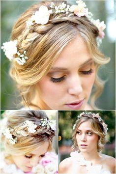 A Romantic Bohemian Wedding Hairstyle