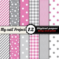 Stripes, stars, polka dots, gingham, chevron in grey and pink colors. 12 digital papers.DIGITAL PAPER PACK :- You can print for your scrapbooking projects, cutting, invitation cards ...- You can use for your digital creations, banners design, background image for your blog ...FORMAT:-:-:-:-:-:-:-:-:-:-:-:-:-:-:-:-:-:-:-:-:-:-:-:-:-:-:-:-:-:-:-:-:-:-:-:-:-:-:-:-:-:-:-:-:-:-:-:A4 and 12x12 inchesJPG files high quality 300 dpiSuitable for digital use or printing.YOU WILL…