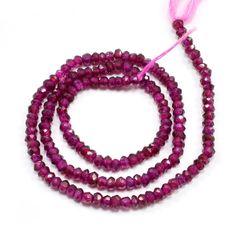 Rhodolite Loose Gemstone Beads String Necklace Jewelry AU 7221 Beautiful Gift #PinkCityGems #Necklace