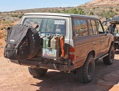 4PlusProducts   FJ60   Tire Carriers   Classic Rear Bumper - awesome rear bumper - modded to fit three jerry cans - installed
