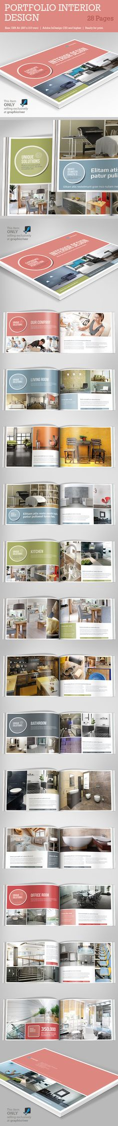 Interior Design Square Brochure Brochures, Brochure template and - interior design brochure template