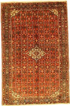 Red Hossainabad Area Rug