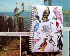 Birds  Spiral Notebook 4 x 6 by Ciaffi on Etsy, $10.00