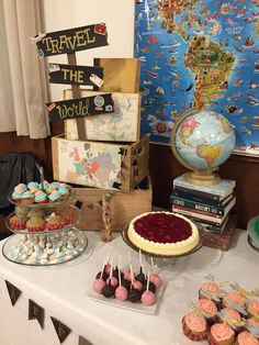 Travel themed party mom and tim's birthday in 2019 свадьба, Graduation Party Themes, Birthday Party Themes, Graduation Diy, Travel Themes, Travel Theme Parties, Travel Themed Weddings, Travel Ideas, Travel Theme Decor, Ideas Party