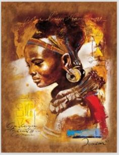 100% Handmade Portrait Oil Painting on Canvas African Woman Painting Wall Decor Living Room Wall Art Vertical No Framed