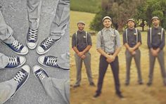 Casual Converse, with a vintage look.