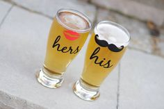 His and Hers Beer Mugs   15 Sentimental Wedding Gifts for the Couple