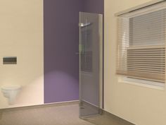 Bi-folding glass shower screens for wet room vinyl flooring with cove skirting. These hinged glass panels have a special wall profile which has a 33mm radius formed at the bottom.