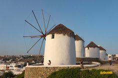Mykonos, hem eğlence hem dinlence, Mykonos hakkında merak ettikleriniz.... Mykonos, Wind Turbine