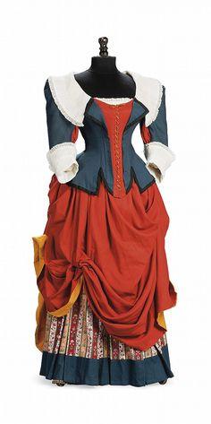 A LADY'S 17TH CENTURY DUTCH SERVANT GIRL FANCY DRESS ENSEMBLE  CHARLES WORTH, CIRCA 1900. I like the bottom. The top....eh.