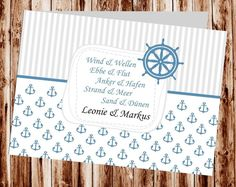 Maritime Einladungskarte, Hamburg Einladung Für Hochzeit, Individuell  Designed By Die Kartenfrau | Einladung | Pinterest | Einladungskarten,  Maritim Und ...