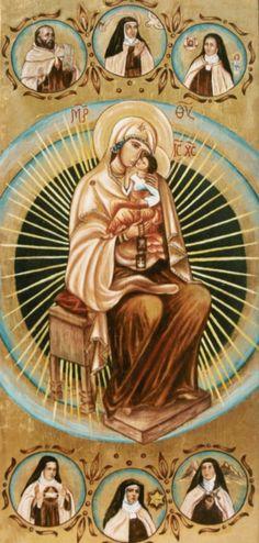 Madonna del Carmine - santino Jesus Mother, Blessed Mother Mary, Divine Mother, Blessed Virgin Mary, Catholic Art, Catholic Saints, Religious Art, The Bible Miniseries, Mont Carmel