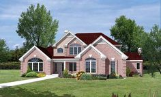 Elevation of Traditional   House Plan 87317