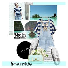 White Chiffon Blouse with SheIn by antemore-765 on Polyvore featuring polyvore moda style H&M Abercrombie & Fitch Betsey Johnson fashion clothing