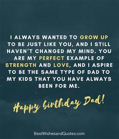 Happy Birthday Dad Quotes Impresionante Happy Birthday Dad 40 Quotes to Wish Your Dad the Best Happy Birthday Dad Messages, Happy Birthday Papa Quotes, Daddy Birthday, Best Birthday Wishes, Happy Birthday Wishes, Birthday Greetings, How To Wish Birthday, Letter To Dad, Best Dad Quotes