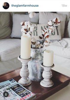 Splendid Cotton Stems   farmhouse, country rustic home decor ideas for a cozy, white living room  The post  Cotton Stems   farmhouse, country rustic home decor ideas for a co ..
