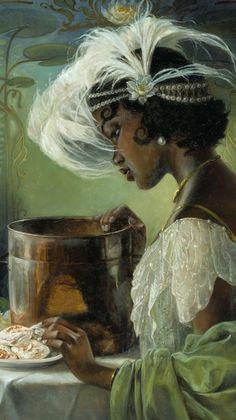 Black Love Art, Black Girl Art, Art Girl, Renaissance Kunst, Renaissance Paintings, Arte Dope, Arte Black, Black Art Painting, Wow Art