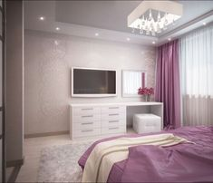 Bedroom Setup, Bedroom Closet Design, Home Room Design, Dream Home Design, Interior Design Living Room, Duplex Design, Apartment Design, Purple Bedrooms, Bedroom Decor For Teen Girls