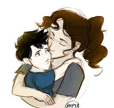 Little Percy Jackson and Sally  sketchbookofdreams.tumblr.com