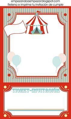 invitación fiesta circo 3 Invitaciones para Fiestas Circo