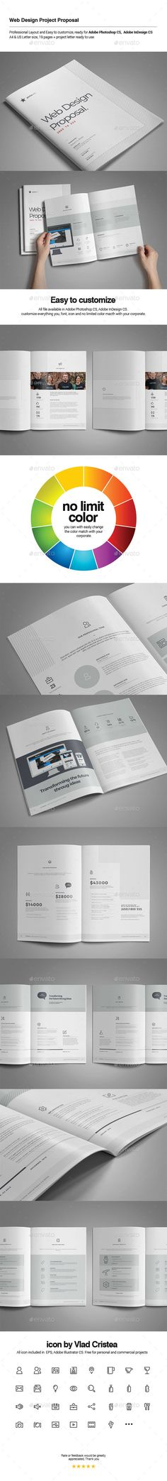 Web Design Proposal — Photoshop PSD #purple proposal #web development •…