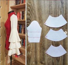 Sewing Pattern Tutorial: Layered Bell Sleeve, You may be a novice sewist searching for some easy stitching projects, or perhaps you are just buyi, Dress Sewing Patterns, Sewing Patterns Free, Clothing Patterns, Pattern Sewing, Sewing Tutorials, Vogue Patterns, Vintage Patterns, Sewing Crafts, Sewing Projects