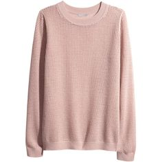 H&M Cashmere jumper (195 BRL) ❤ liked on Polyvore featuring tops, sweaters, shirts, jumpers, old rose, long-sleeve shirt, rose print shirt, pink rose sweater, pink cashmere sweater and h&m shirts