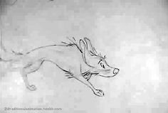 Animator: Matt Williames Character: Dog Film: Adam and the dog Video: handdrawnnomad. Animation Sketches, Animation Reference, Drawing Reference Poses, Art Reference, Anime Wolf, Dog Films, Pencil Test, Animation Tutorial, Cool Animations