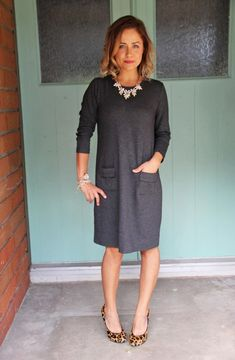 Ashley from @littlemissmomma looks fabulous in her J.Jill ponte knit dress.  This piece is incredibly versatile and classic- perfect for a stylish, yet comfortable Sunday wardrobe.