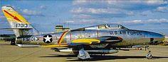 USAF Republic RF-84F-25-RE Thunderflash of the 32nd TRS/10th TRW.