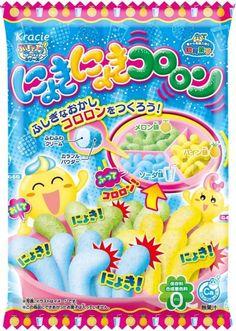 Kracie DIY Candy Kit Nyokinyoki Kororon soda taste Mysterious mellon pineapple #Kracie
