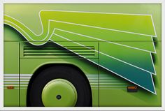 Living in Paris, Taylor Holland sees eye-catching bus designs every day. Design Observer, Creators Project, Antique Frames, American Artists, Holland, Europe, Buses, Empty, Trains